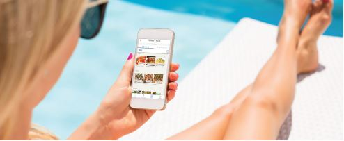 Order food and beverages right at poolside with Patron Mobile
